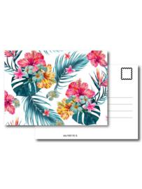 Pand label A6 kaart - Jungle flower