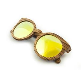 Houten zonnebril (gepolariseerd) -  St Augustine spiegelglas goud