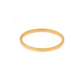 Ring basic recht - goud