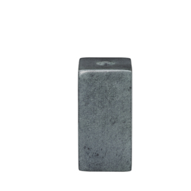 stenen kandelaar voor diner- én potloodkaarsjes - grijs