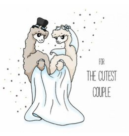 Alpaca wenskaart - for the cutest couple