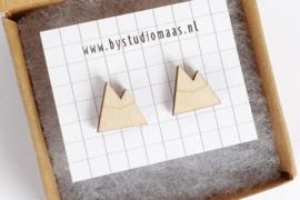 Studio Maas - houten oorbellen berg