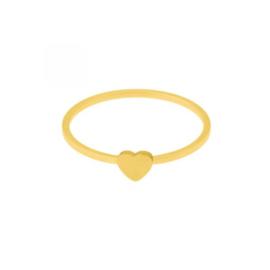 Ring hart- goud