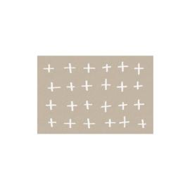 Mat (touch) 50x75 - plusjes beige