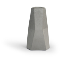 Facet candle holder - beton lichtgrijs