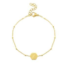 armband leaf - goud