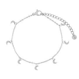 armband moons - zilver