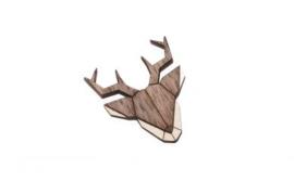 houten broche - Deer