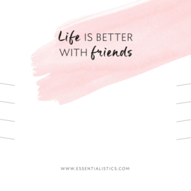 Armband kaart - life is better with friends