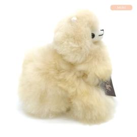 alpaca knuffel van echte alpacawol - MINI