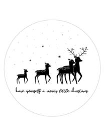 muurcirkel kerst herten - 20 cm