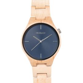 houten horloge van esdoornhout - Faun Hot&Tot