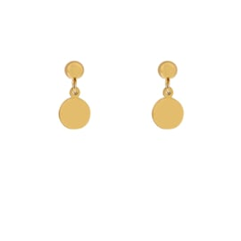 Stud earrings  with charm - COIN - goud