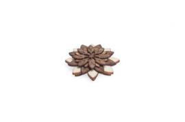 houten speldje - Illa flower