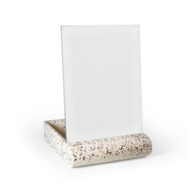 Terrazzo spiegel  & accessoires houder - wit