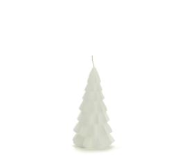 Kerstboom kaars klein - wit