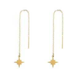 Long chain earrings NORTHSTAR - goud
