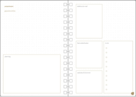 Paper Time planner navulling - projectplanning