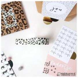 Masking tape - panterprint zwart wit