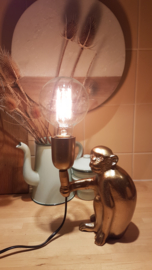 Tafellamp - monkey gold