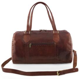 Leren barrelbag - Jina XL