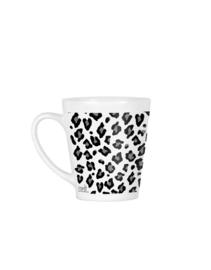 Latte mok met panter print