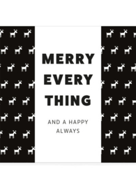 Chocolade in cadeauverpakking- Merry everything and a happy always
