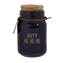 Geurkaars van biologische sojawas -  happy ho ho ho