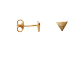 Earring triangle - goud