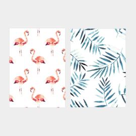 Annet Weelink set van 2 kaarten- flamingo
