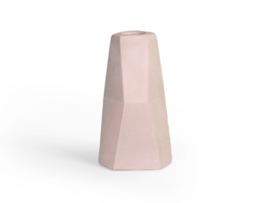 Facet candle holder - beton lichtroze