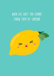 postkaart - lemons