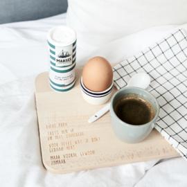 Houten ontbijtplankje met tekst – lieve papa
