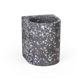 Terrazzo bloempot klein - grijs