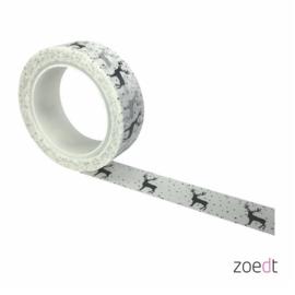 Zoedt masking tape / washi tape - hertjes in de sneeuw