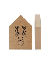 houtprint - hertje
