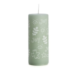 Kaars Joy - soft green