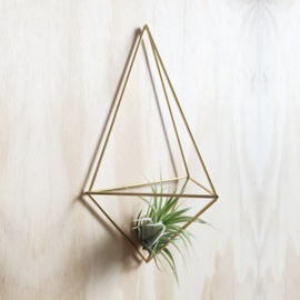 DIY wall planter Facet messing- Draadzaken