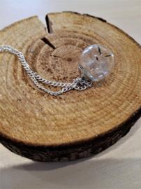 SIL ketting dandelion - glazen bolletje met paardebloempluis