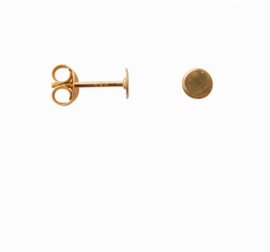 Flat circle earring - goud
