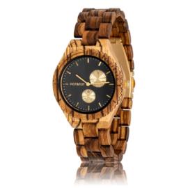 houten horloge met chronograaf - Chronos Hot&Tot