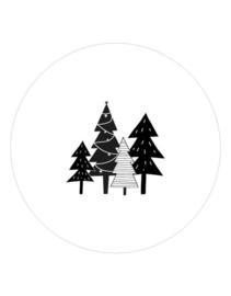 muurcirkel kerstbomen - 20 cm