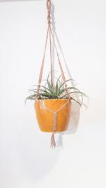 Macramé plantenhanger met of zonder pot