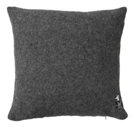 Silkeborg kussen Athen 100% lamswol - 40x40 donker grijs