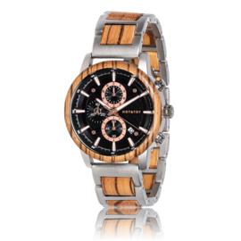 houten horloge met chronograaf - EMPEROR
