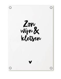 Tuinposter - Zon wijn & kletsen