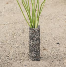 Terrazzo vaas - grijs