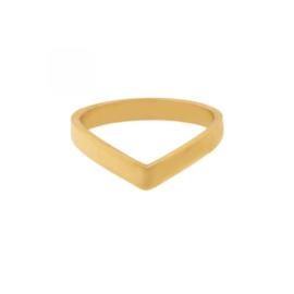 Ring V - goud