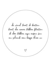 muurcirkel herfst gedicht - 20 cm