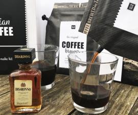 Italian Coffee gift set (incl 2 glazen en Amaretto likeur)